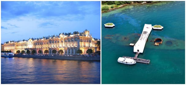 The Medallion Collection features VIP experiences at the Hermitage and Pearl Harbor.