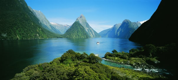 You'll be surrounded by natural beauty at Milford Sound.