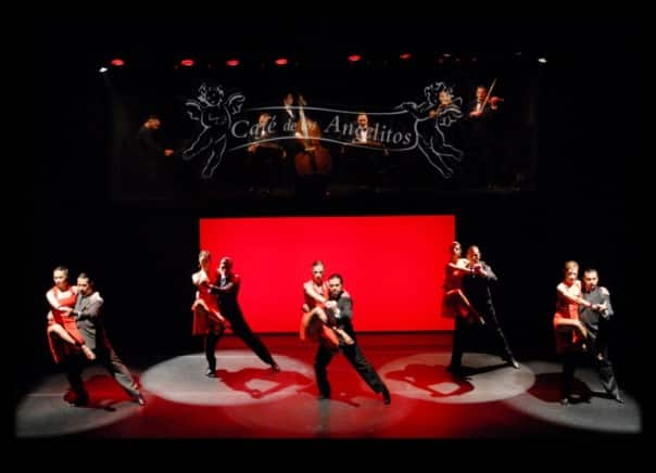 Watch professional dancers take the stage for a captivating Tango performance.