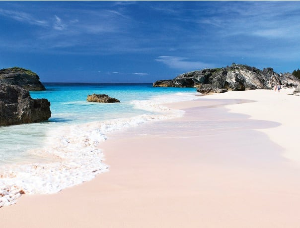 Bermuda is known for pink sand beaches.