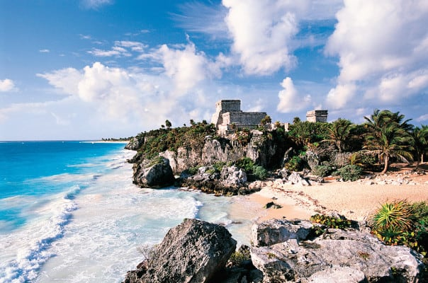 Visit the only known coastal Mayan Ruins at Tulum.