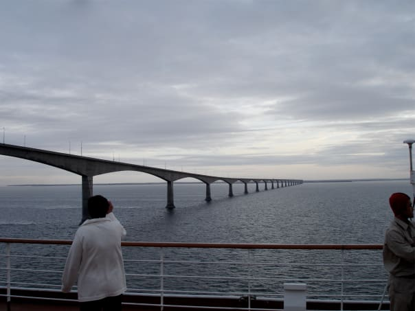 Confederation Bridge is the longest bridge crossing ice-covered waters. Photo by Hans Janssen.