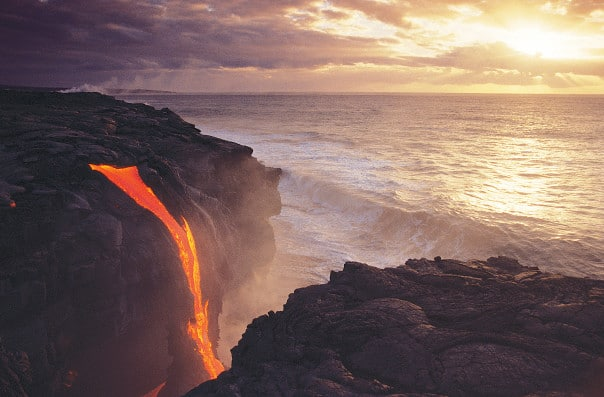 Visit the volcanic islands of Hawaii, Fiji and more when you cross the Pacific Ocean.