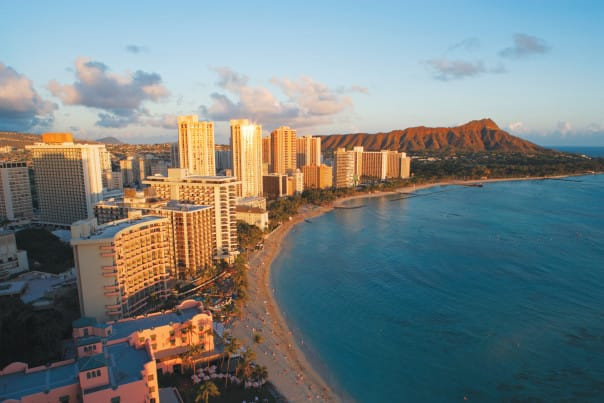 Waikiki Beach is known as the birthplace of surfing.