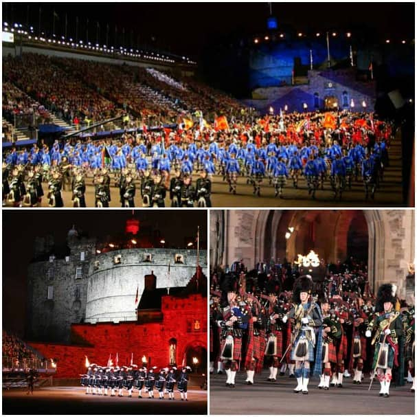 Edinburgh Castle is the beautiful backdrop for the annual Tattoo.