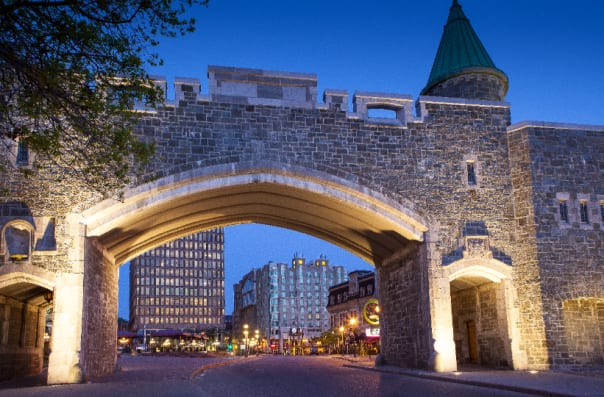 Quebec City's walls still stand strong.
