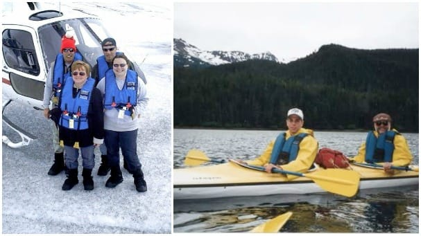 Jennifer Duffy loved her helicopter ride to a glacier while Jared Raymond remembers kayaking in Sitka.
