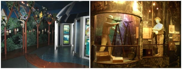 The Miraflores Visitor Center features four halls depicting the history of the Canal and how it operates.