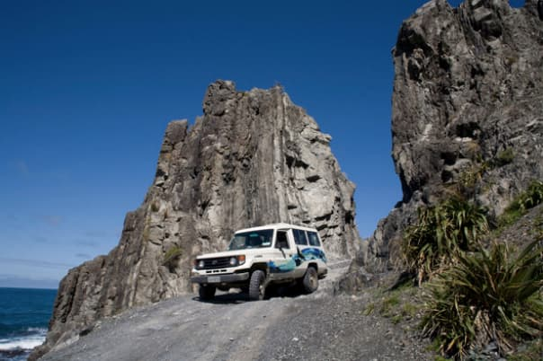 A 4x4 vehicle on the tour is a great way to explore.