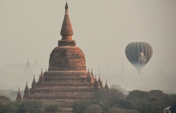Both Jeff and Diane rank the port of Bagan and their hot air balloon ride over the temples among their Top 10.