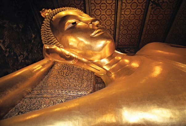 Thanks to an overnight call guests can go into Bangkok and see the Golden Reclining Buddha at Wat Po.