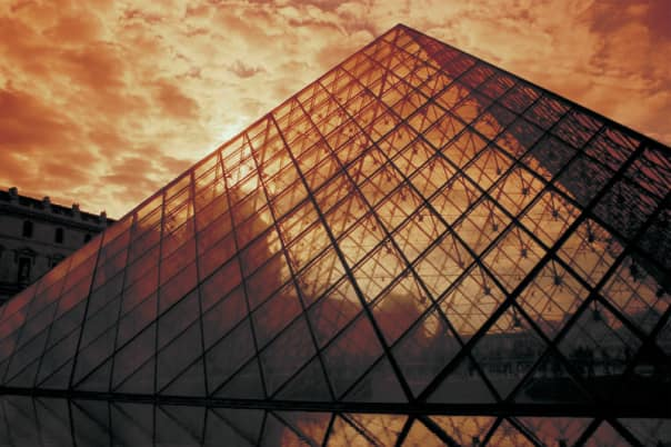 The Louvre with its unique pyramid is one of the most recognizable museums.