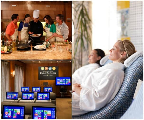 From culinary and computer classes to the spa, there are a variety of activities to enjoy on sea days.