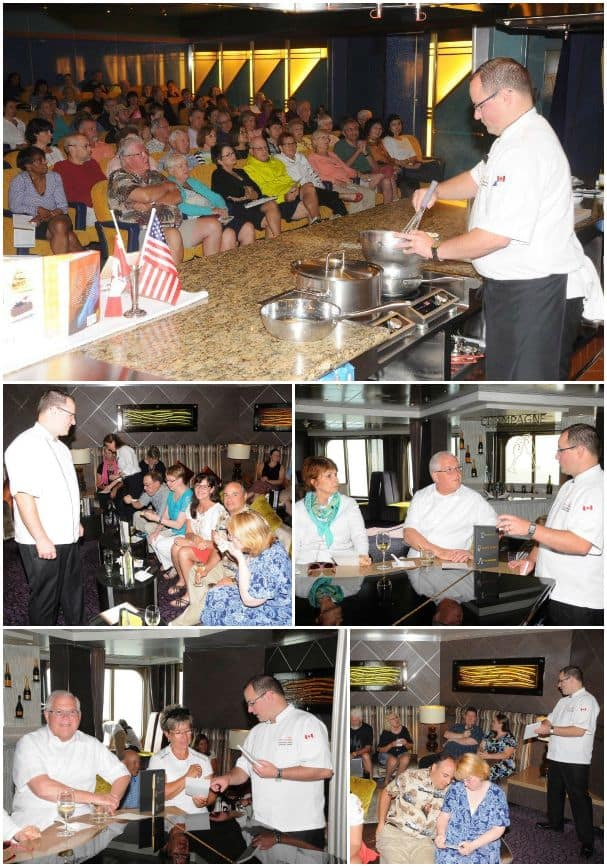 Chef Andrew Smith hosted a cooking demonstration and a food and wine tasting event.