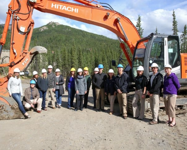 Getting ready to break ground for the new Base Camp.