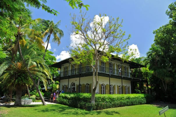 Visit Ernest Hemingway's famous home in Key West.