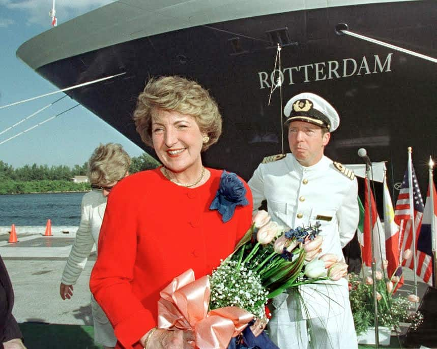 The ship's christening in 1997.
