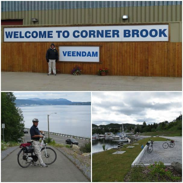 Biking around Corner Brook.