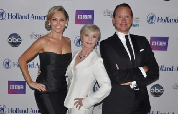 "The final ""Dancing with the Stars: At Sea"" cruises will feature from left: Kym Johnson, Florence Henderson, Carson Kressley and Tony Dovolani (not pictured)."