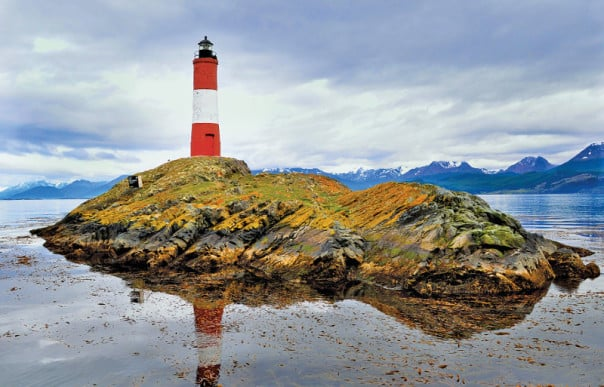 The world is filled with beautiful lighthouses, like Ushuaia's Les Eclaireurs.