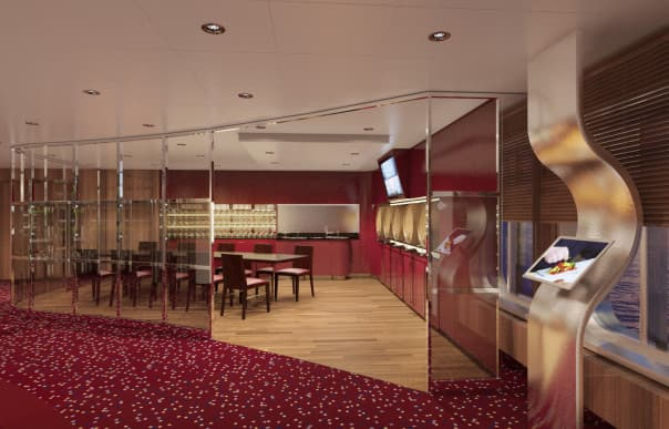 BLEND on ms Koningsdam allows guests to blend their own wine from five Chateau Ste. Michele reds.