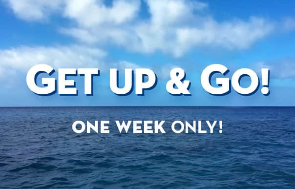 With Get Up & Go savings, you can choose a cruise that features sea days, ports days or both!