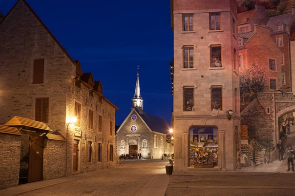 Quebec's ancient buildings set the scene with a storied history.