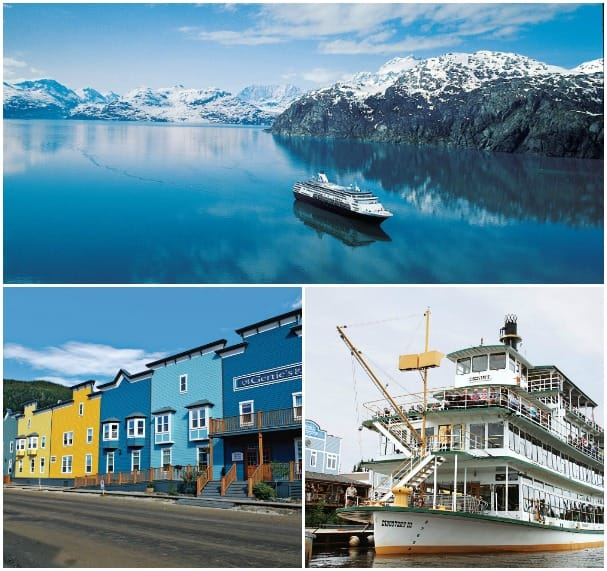Glacier Bay scenic cruising, Fairbanks (right) and Dawson City are just a few Land+Sea highlights.