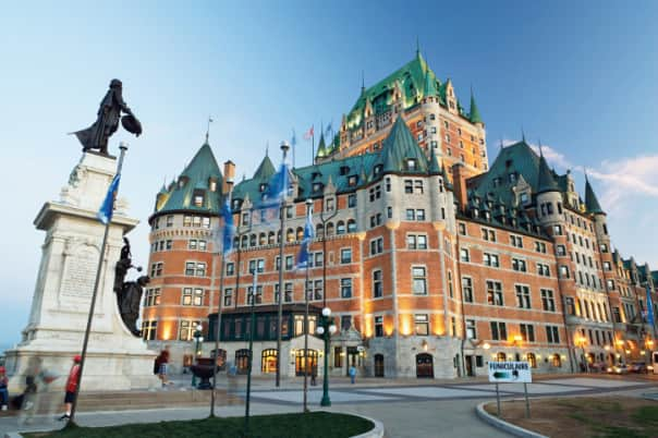 Chateau Frontenac is one of Quebec's most famous attractions.