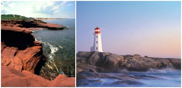 The picturesque coasts of Charlottetown, Prince Edward Island and Halifax are not to be missed.