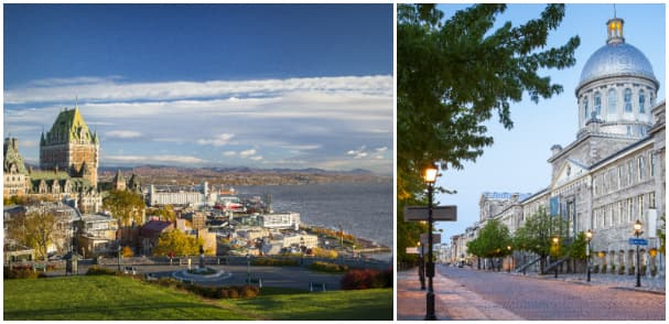 All 10-day cruises feature calls in two quintessential Canadian ports: Montreal and Quebec City, Quebec.