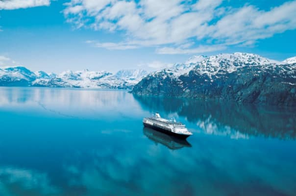 A cruise to Alaska's Glacier Bay offers stunning glacier views.