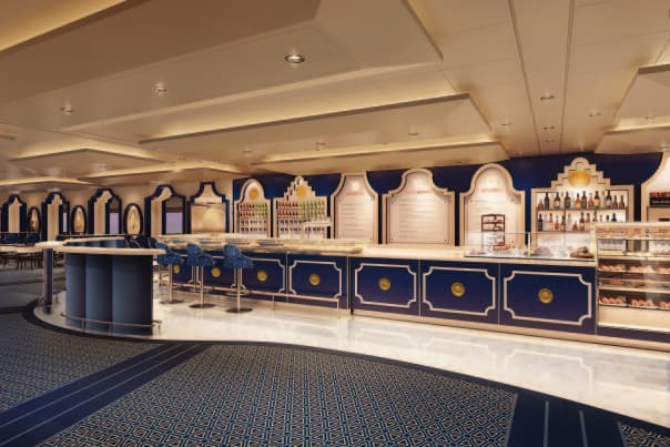 Tihany says the whimsical Grand Dutch Cafe is one of his favorite spaces on Koningsdam.