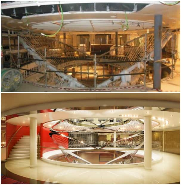 The Atrium is coming along nicely. Top is current and bottom is a rendering of what it will look like when complete.