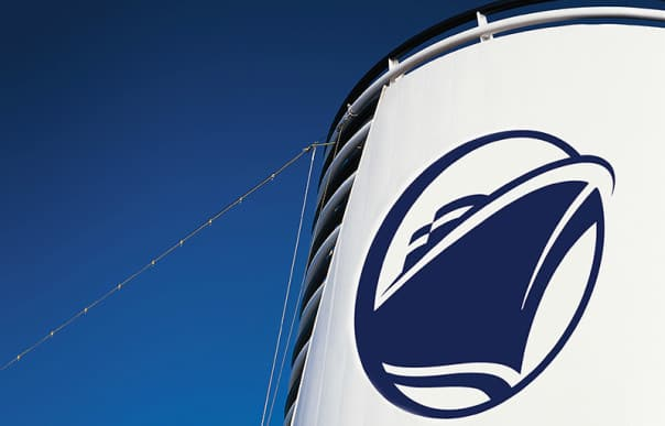 Koningsdam will be the first ship in the fleet to boast the new logo on its funnel.