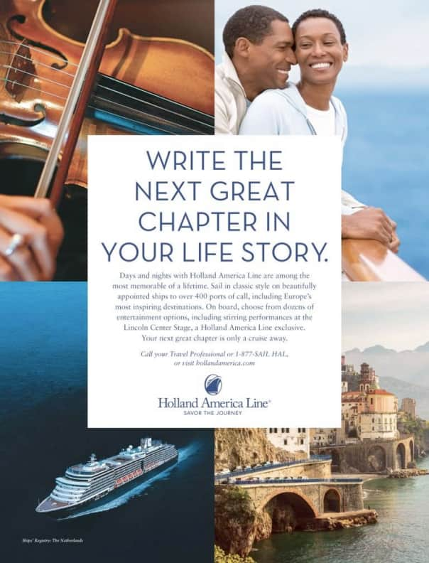 One of the new Holland America Line print ads.