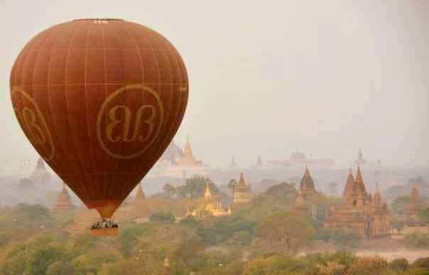 The Bagan Temples are best seen via a majestic hot air balloon ride.