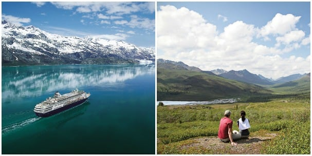 A Land+Sea Journey combines an Alaska cruise with an overland adventure. Book one and be entered to win a gold nugget!