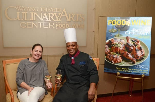 Food & Wine Deputy Editor Christine Quinlan and Volendam's Tournant Chef Michael Augustus