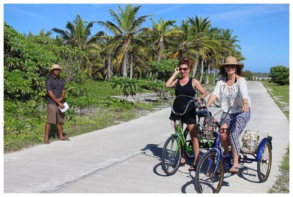 Karen Mercer explored the island by bike.