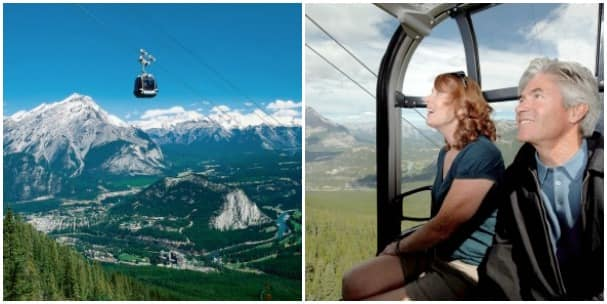 A ride on the Banff Gondola provides spectacular views. Photos courtesy Brewster Travel Canada.