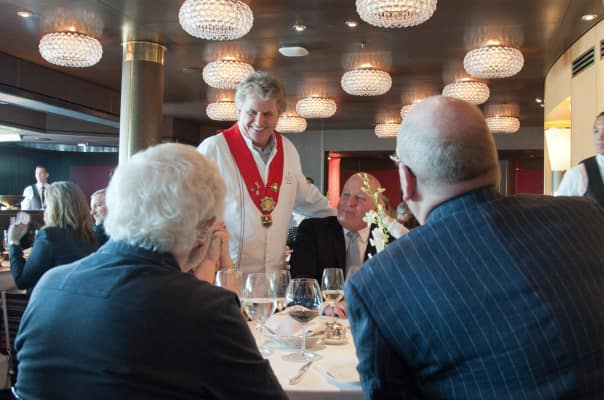 Holland America Line Master Chef Rudi Sodamin made sure every dish was served to perfection.