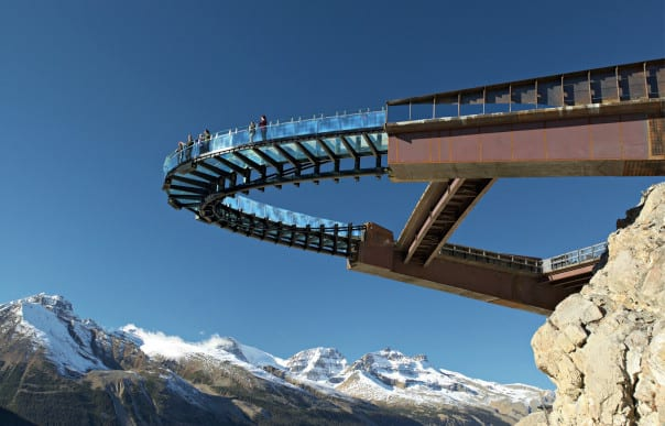 Glacier Skywalk at the Columbia Icefield provides a once-of-a-kind view. Photo courtesy of Brewster Travel Canada.