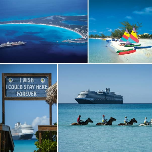 Half Moon Cay is featured on all of the Caribbean itineraries.