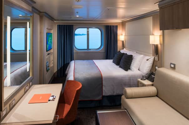 The new Family Staterooms that sleep up to five and have two bathrooms.