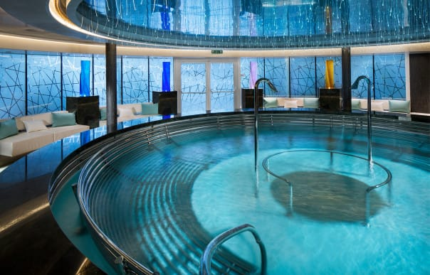 Who's ready to relax in Koningsdam's pampering hydropool?
