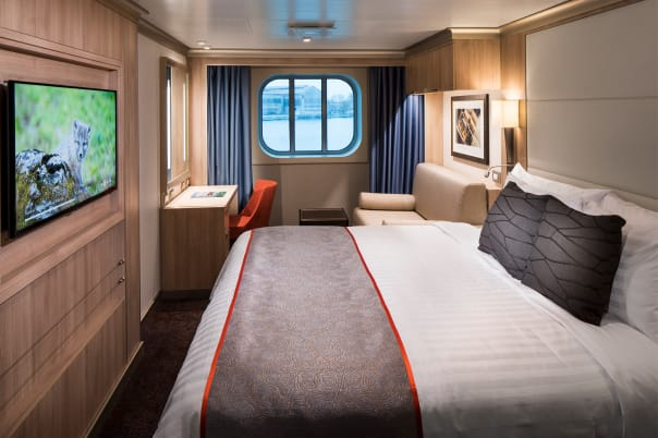 An Ocean-View Stateroom.
