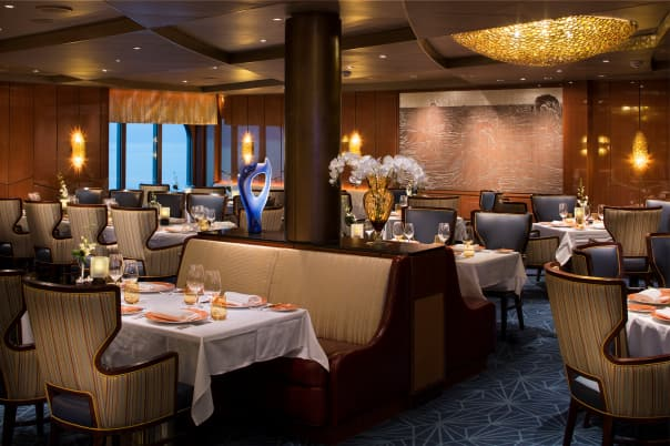The award-winning Pinnacle Grill is a Holland America Line guest favorite.