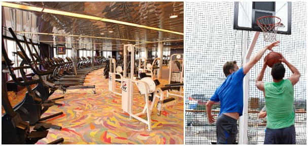Stay fit with Holland America Line's indoor and outdoor fitness facilities.