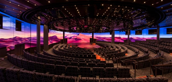 Koningsdam's World Stage is like no other theater at sea.